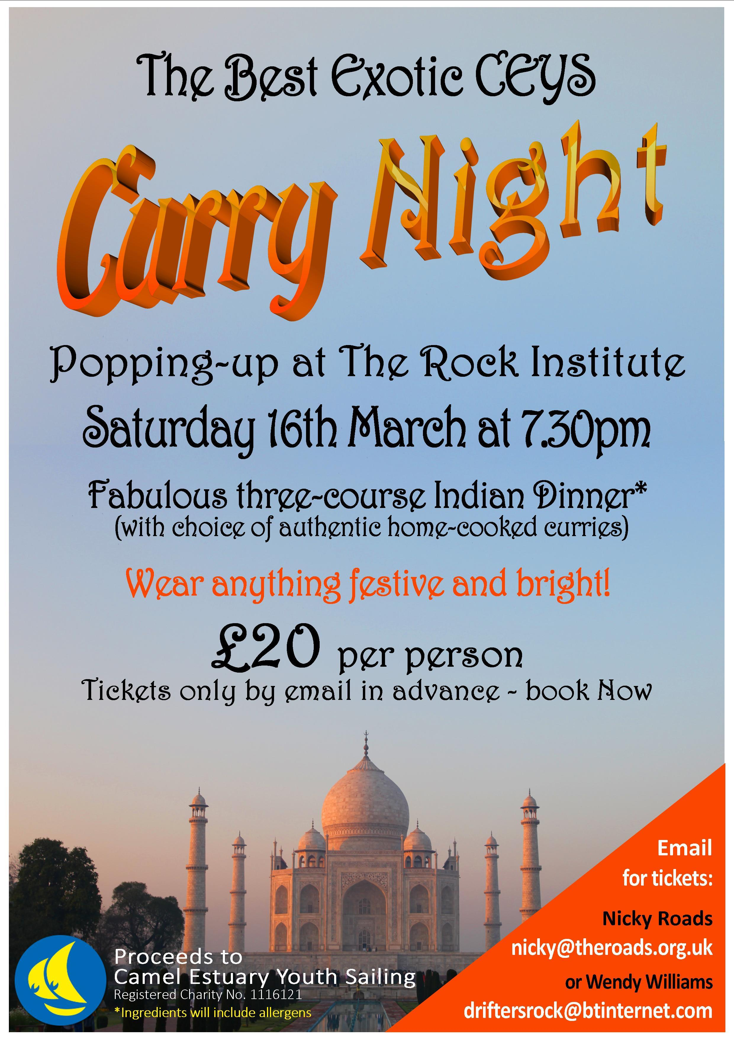 Curry Night Poster latest